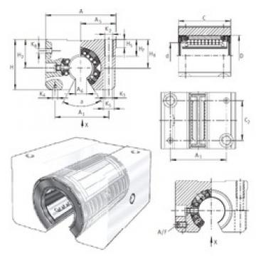 INA KGSNOS50-PP-AS linear bearings
