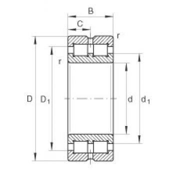 INA SL014856 cylindrical roller bearings