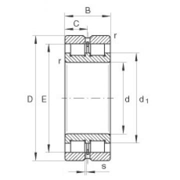 INA SL024916 cylindrical roller bearings